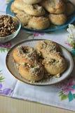 Mucenici: traditioneel Roemeens zoet brood Royalty-vrije Stock Fotografie
