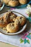 Mucenici: traditionelles rumänisches süßes Brot Stockbild