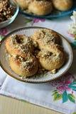 Mucenici: traditionellt rumänskt sött bröd Arkivfoto