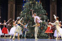 The much admired- The second act second field candy Kingdom -The Ballet Nutcracker. Ukraine Kiev theatre ballet dancers perform the Nutcracker in Nanchang in stock photos