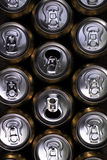 Much of drinking cans Stock Image