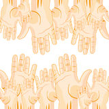 Much extended hands Royalty Free Stock Photo