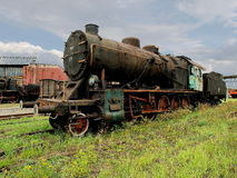 Railway locomotive. Stock Photo