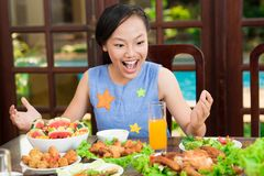 So much meal! Royalty Free Stock Photography