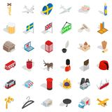 Much money icons set, isometric style. Much money icons set. Isometric style of 36 much money vector icons for web isolated on white background Stock Photos