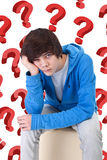 So much questions Stock Images