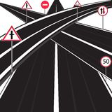 Much roads Royalty Free Stock Photography