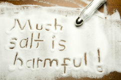Much salt is harmful ! Royalty Free Stock Images