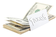 Much tax money isolated Royalty Free Stock Photos