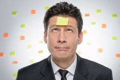 It is so much to do. Portrait of frustrated businessman looking Stock Photography