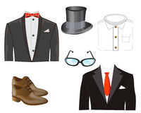 Much varied cloths Stock Image