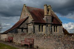 Much Wenlock cemetery and chapel in Shropshire, England Royalty Free Stock Photo