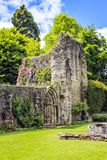 Much Wenlock, Shropshire, England. Wenlock Priory,  is a ruined 12th century monastery, located in Much Wenlock.  The foundation was a part of the Cluniac order Stock Photo