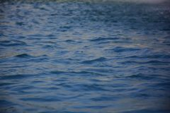 Mucha agua con las pequeñas ondas fotografía de archivo
