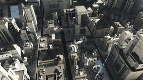 Mucha altitud del paisaje urbano de la ciencia ficción Fotografía de archivo libre de regalías