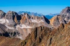 Mucha altitud Rocky Mountain Peaks Imagenes de archivo