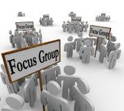 Mucha gente de grupos principales que encuentra a clientes del lugar de las muestras libre illustration