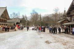 Mucha gente en carnaval del día de fiesta Imagen de archivo