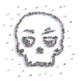 Mucha gente forma un cráneo, un día de fiesta Halloween libre illustration