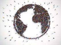 Mucha gente junto en todo el mundo representación 3d libre illustration
