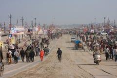 Mucha gente va a Sangam Imagen de archivo