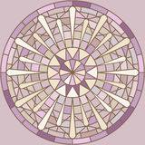 Mucha inspired round mosaic ornament Stock Photo