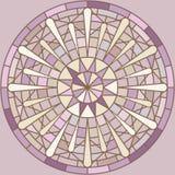 Mucha inspirou em volta do ornamento do mosaico ilustração stock