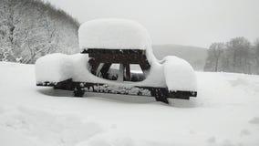 Mucha nieve fotografía de archivo
