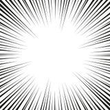Mucha velocidad radial cómica negra alinea en la base blanca Ejemplo de la explosión del poder del efecto Elemento del diseño del stock de ilustración