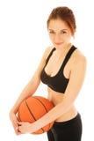 Muchacha #1 del baloncesto foto de archivo