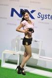 Muchacha 2011 de la demostración de Sumsung del ¼ del ï de CHINA P&E Imágenes de archivo libres de regalías