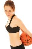 Muchacha #3 del baloncesto imagenes de archivo