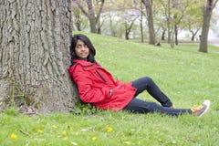 Muchacha adentro al aire libre Foto de archivo libre de regalías