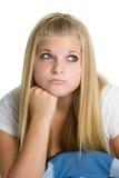 Muchacha adolescente aburrida imagen de archivo