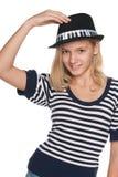 Muchacha adolescente adorable de la moda Foto de archivo libre de regalías