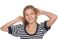 Muchacha adolescente adorable pensativa Fotografía de archivo
