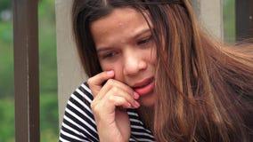 Muchacha adolescente afligida o desesperada Imagen de archivo libre de regalías