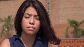 Muchacha adolescente afligida sola Imágenes de archivo libres de regalías