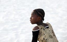 Muchacha adolescente africana sorprendida Fotografía de archivo