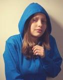 Muchacha adolescente asustada Imágenes de archivo libres de regalías