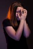 Muchacha adolescente asustada Imagen de archivo libre de regalías