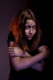 Muchacha adolescente asustada Fotos de archivo libres de regalías