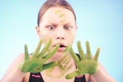 Muchacha adolescente asustada Fotografía de archivo libre de regalías