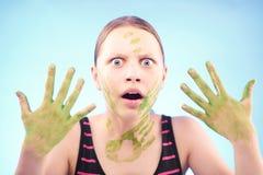 Muchacha adolescente asustada Foto de archivo libre de regalías