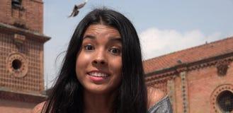 Muchacha adolescente bastante emocionada Fotos de archivo