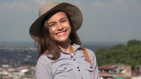 Muchacha adolescente bastante feliz Fotografía de archivo