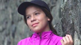 Muchacha adolescente bastante sonriente Fotografía de archivo