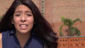 Muchacha adolescente chocada o asustada Imagenes de archivo