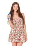 Muchacha adolescente con agua Fotos de archivo libres de regalías