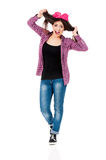 Muchacha adolescente con el arco Imágenes de archivo libres de regalías